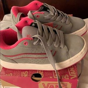 Grey / Pink Girl Shoes Vans